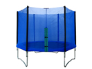 Blue Jump Trampoline With Enclosure