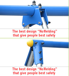 "The best design ""NoWelding"" that give people best safety"